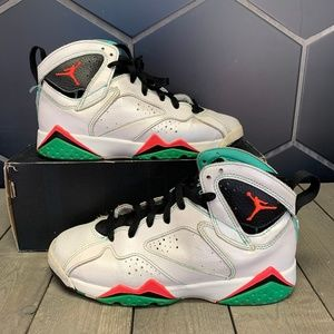 Air Jordan 7 30th GG Verde White Shoe Size 5.5Y